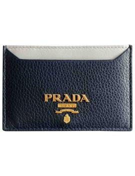 Leather Card Wallet by Prada