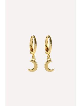 To The Moon   Gold by Gouden Maan Oorbellen