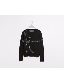 Bow Sequin Knit Jumper by Oasis
