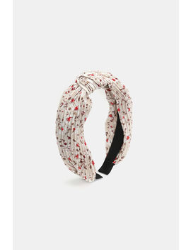 Floral Pleated Twisted Headband by Ardene