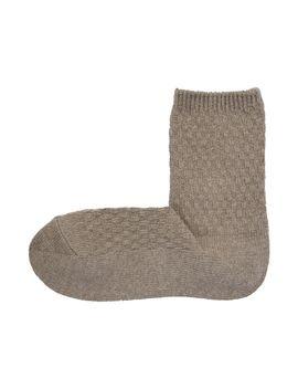 Womens Waffle Knit Right Angle Socks by Muji