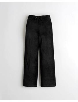 Velour Wide Leg Sleep Pants by Hollister