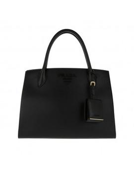 Monochrome Tote Bag Black by Prada