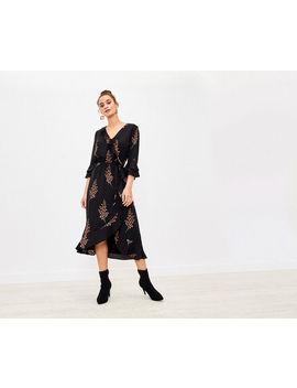 Leaf Print Midi Dress by Oasis