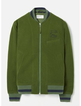 Universal Works Bomber Jacket In Green Embroidered Mowbray by Universal Works