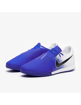 Nike Phantom Vnm Academy Ic   White/Black/Racer Blue by Pro Direct Soccer