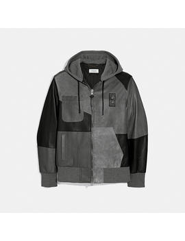 Pieced Suede Hoodie by Coach