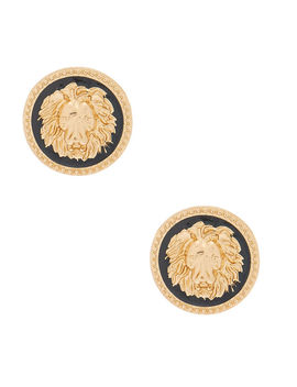 Gold Lion Stud Earrings by Claire's
