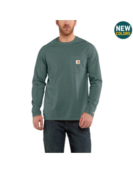 Carhartt Force® Cotton Delmont Long Sleeve T Shirt by Carhartt