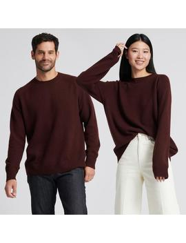 The Luxe Unisex Cashmere Sweater Plum by Naadam