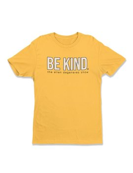 Be Kind. Yellow Tee by The Ellen