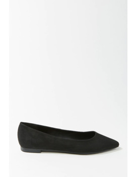 Faux Suede Ballet Flats by Forever 21
