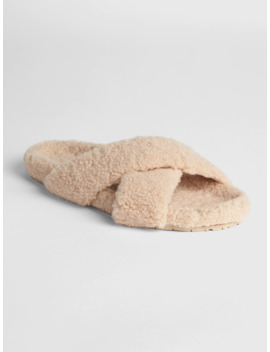 Sherpa Slide Sandals by Gap