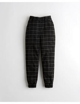 Ultra High Rise Plaid Joggers by Hollister