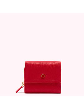 Classic Red Leather Jodie Wallet by Lulu Guinness