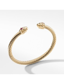 Renaissance Bracelet In 18 K Gold With Gold Dome And Rubies by David Yurman