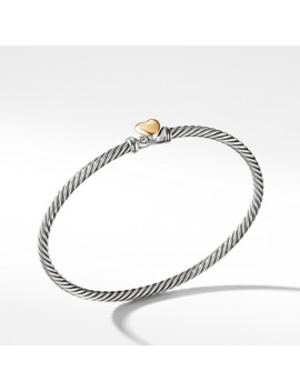 Cable Collectibles Heart Bracelet With 18 K Gold, 3mm by David Yurman