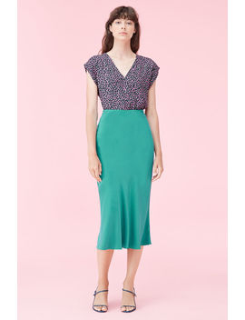 Silk Charmeuse Skirt by Rebecca Taylor