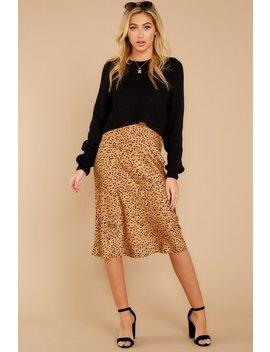 Strike A Pose Tan Cheetah Print Skirt by Cotton Candy