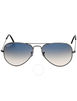 Original Aviator Polarized Blue Gray Gradient Sunglasses by Ray Ban