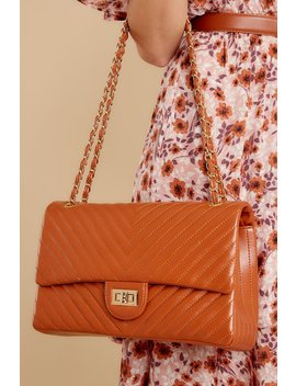 Polished And Poised Chestnut Bag by Joia