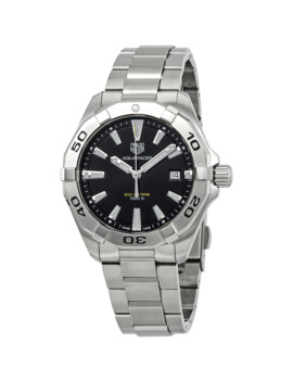 Aquaracer Brushed Black Dial Men's Watch by Tag Heuer