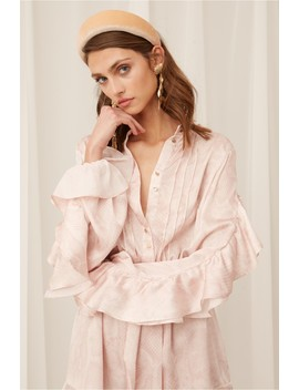 Pearl Long Sleeve Playsuit by Bnkr