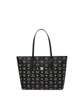 Anya Top Zip Shopper In Skyoptic Visetos by Mcm