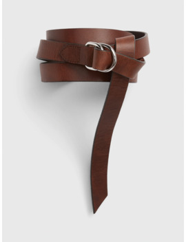 Thin Harness Buckle Leather Belt by Gap