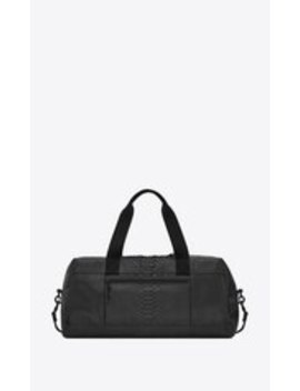 Nuxx Duffle In Brushed Python by Saint Laurent