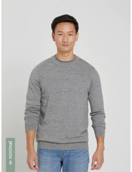 Machine Washable Merino Crewneck In Dark Heather by Frank & Oak
