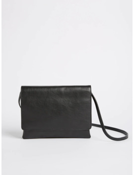 Leather Crossbody Bag   Black by Frank & Oak