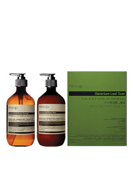 Aesop Geranium Leaf Body Cleanser And Balm Duet by Aesop