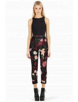 Dark Roses Cuffed Pants Bm Fit by Black Milk