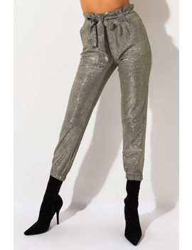 Shining Star Tie Front Jogger by Akira
