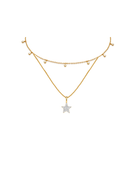 Gold Sparkling Cosmos Necklace Set by Missoma