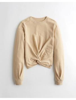Twist Front Sweatshirt by Hollister