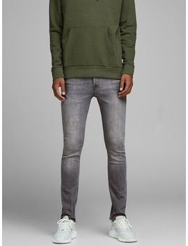 Glenn Original Am 838 Slim Fit Jeans Logotypprydd Hoodie  Glenn Original Am 838 Slim Fit Jeans  Krispigt Vita Sneakers by Jack & Jones