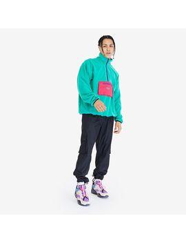 Reebok Cl F Trail Half Zip Polar Fleece   Emerald by Pro Direct Select