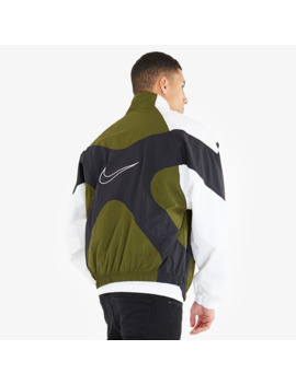 Nike Sportswear Re Issue Woven Jacket   Legion Green/White by Pro Direct Select