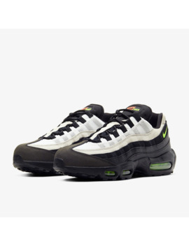 Nike Air Max 95 Essential   Black/Electric Green by Pro Direct Select