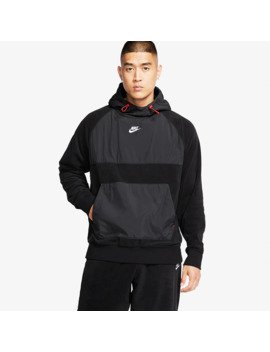 Nike Sportswear Winter Hoodie   Black/Gym Red by Pro Direct Select