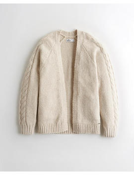 Slouchy Cable Cardigan by Hollister
