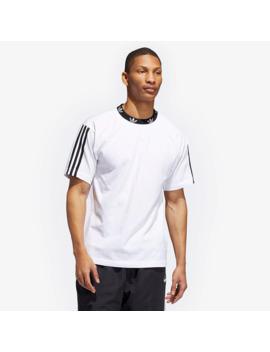 Adidas Spirit Trefoil Rib Tee   White/Black by Pro Direct Select