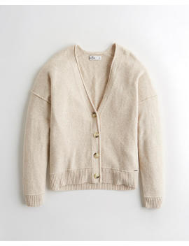 Slouchy Button Front Cardigan by Hollister