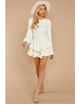 Right Impression White Sweater Romper (Backorder 12/12) by Aura