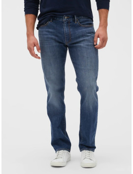 Soft Wear Straight Fit Jeans With Gap Flex by Gap