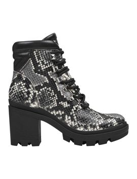 Kini Lug Sole Boot   Snake Print by Marc Fisher Ltd
