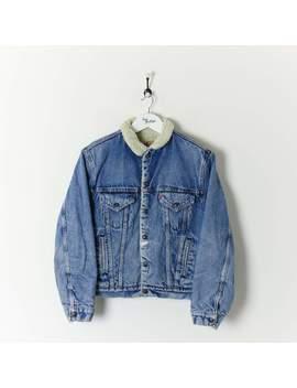 Levi's Denim Sherpa Jacket Medium by Levi's