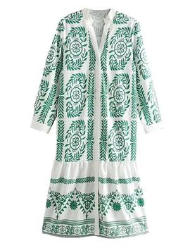'nikka' Bohemian Embroidery Pattern Button Down Dress (2 Colors) by Goodnight Macaroon
